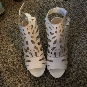 Justfab wedge heeled sandals. Never worn.